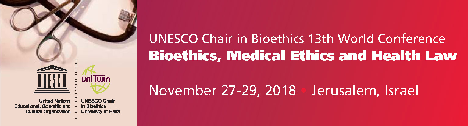 13th World Conference on Bioethics, Medical Ethics & Health Law – 2018